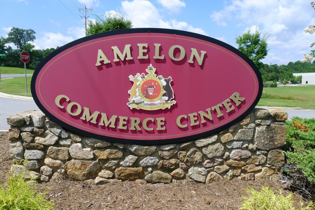Amelon Commerce Center Sign